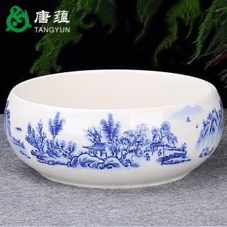 Tang aggregates kung fu tea tea tea to wash the longquan celadon ceramics 6 gentleman spare parts cup water washing dishes washed writing brush washer