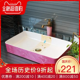 Basin of northern Europe on rectangular lavabo household the pool that wash a face wash basin pink marble balcony art ceramics