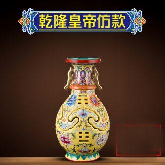 Better sealed kiln jingdezhen antique hand-painted famille rose porcelain vase furnishing articles sitting room floret bottle of new Chinese style art