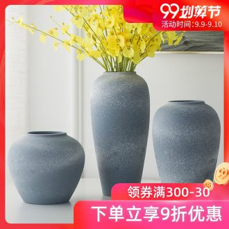 Jingdezhen ceramic do old antique Ming and qing dynasties coarse pottery vases, POTS of classical Chinese flower arranging small place sitting room adornment