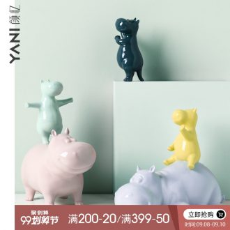 Nordic lovely ceramic animal furnishing articles creative TV ark household act the role ofing is tasted married children room porch housewarming gift
