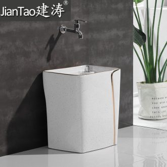 Triangle mop pool ceramic mop bucket bath pond mop sink trumpet 30 cm ceramic floor balcony