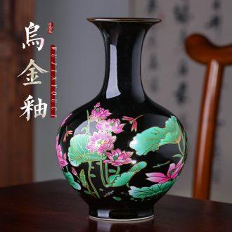 Floret bottle of jingdezhen ceramics vase decoration furnishing articles furnishing articles rich ancient frame sharply glaze vase in the sitting room porch