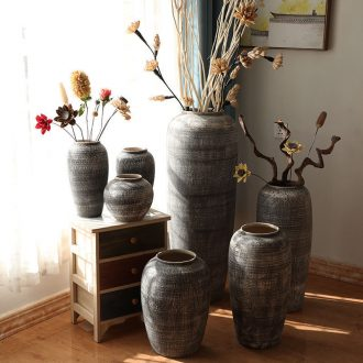 Jingdezhen do old vintage landing crude dry flower flower implement some ceramic jar jar earthenware vase do old big flowerpot soft