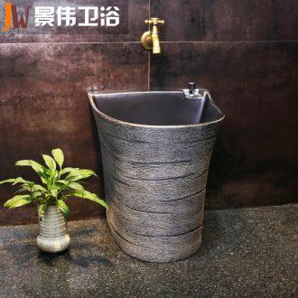 Ceramic balcony POTS JingWei mop pool pool toilet basin home floor mop pool mop mop pool
