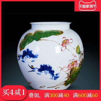 Master of jingdezhen ceramics vase furnishing articles hand-painted pastel pot-bellied bottle mesa study home decoration decoration