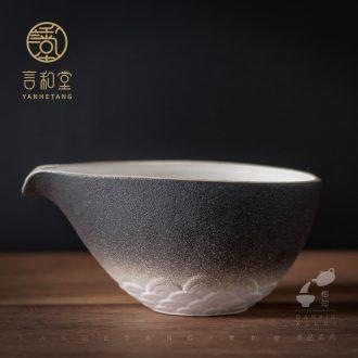 And fair hall ceramic tea cup home points is large and small tea tea kungfu tea set sea fair cup