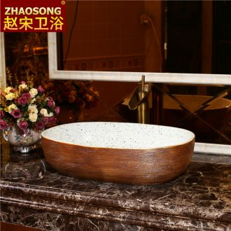 European style of song dynasty ceramics oval table basin bathroom large lavatory basin of wash one creative restoring ancient ways