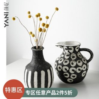 Ceramic vase restoring ancient ways furnishing articles flower arranging home sitting room between example Morocco pottery flower adornment Nordic