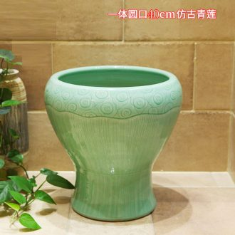 M beauty pool of jingdezhen ceramic mop mop basin antique green bethanath balcony outdoor mop pool