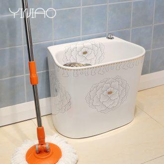 Million birds balcony mop pool large bathroom ceramic mop basin trough wash mop mop pool square mop