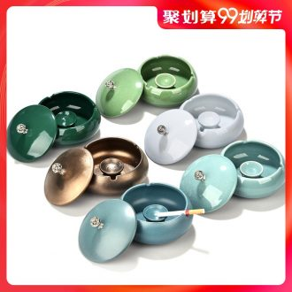 Hong bo acura ashtray creative fashion a large-sized ceramic ashtray with cover the ashtray sitting room bedroom personality
