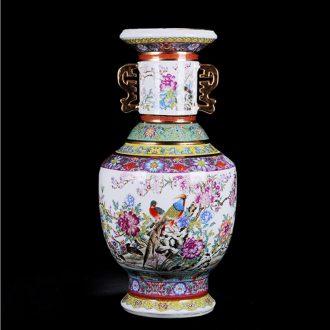 Jingdezhen ceramics imitation qianlong year imitation antique vase, the sitting room porch decoration crafts collection furnishing articles