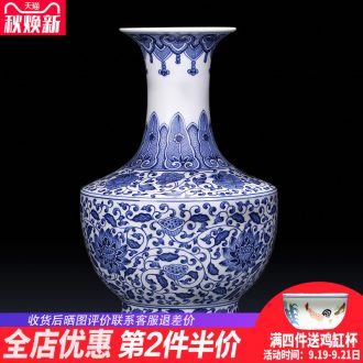 Jingdezhen ceramics imitation qing kangxi blue and white porcelain vases, flower arranging new Chinese style adornment ornament gift porcelain