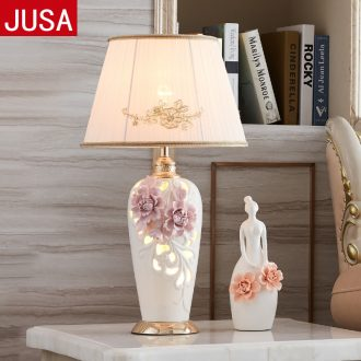 For three European ceramic desk lamp light much manual creative contemporary and contracted sitting room big desk lamp of bedroom the head of a bed of marriage
