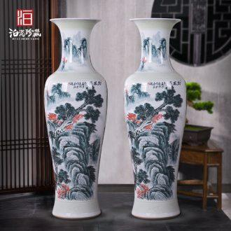 Jingdezhen ceramics of large vases, new Chinese style villa hotel hall opening custom office decoration
