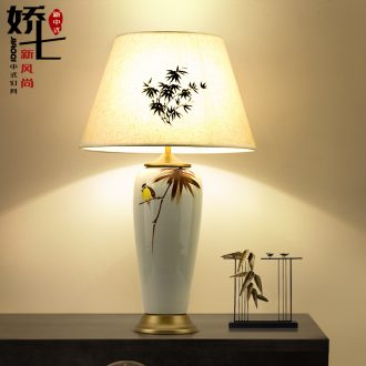 New Chinese style lamp ceramic desk lamp lamp decoration lamp Chinese wind restoring ancient ways of bedroom the head of a bed lamp archaize zen lamp