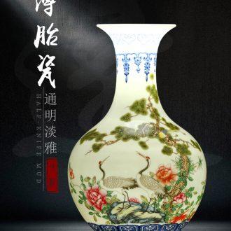 Bucket color blue and white porcelain porcelain vase of jingdezhen ceramics sitting room rich ancient frame household vase decoration furnishing articles