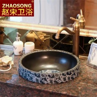 Europe type restoring ancient ways in the ceramic taichung basin sink undercounter creative stage basin half embedded lavabo household