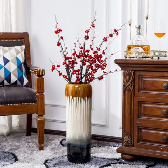 Jingdezhen dried flowers of large vases, ceramic European contemporary and contracted Chinese flower arranging large sitting room adornment is placed