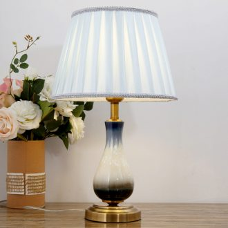 American household contracted ceramic desk lamp of bedroom the head of a bed romantic warmth creative fashion sitting room decorate the study desk lamp