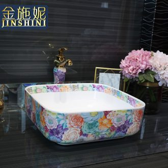 Gold cellnique creative small size ceramic lavatory basin art home bathroom sink basin on the basin that wash a face
