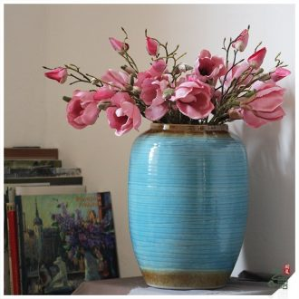 Household adornment art show contemporary and contracted jingdezhen ceramic vase Mediterranean furnishing articles sitting room vase