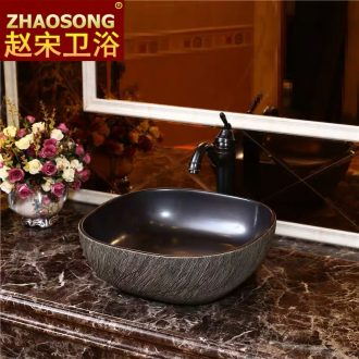 Chinese style imitation art restoring ancient ways the stage basin ceramic lavabo lavatory size square hotel toilet mesa