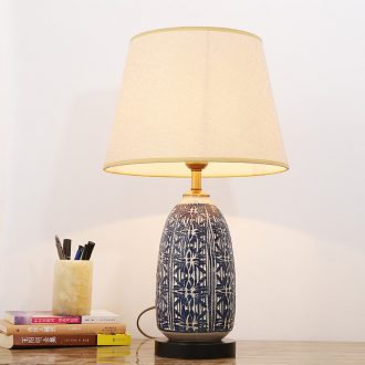 American modern ceramic lamp bedroom berth lamp decoration to the hotel the sitting room of Europe type restoring ancient ways of new Chinese style lamps and lanterns of home stay facility