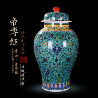 General antique collection jingdezhen ceramics enamel archaize enamel pot vase furnishing articles barrel storage tank
