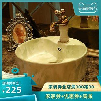 Jingdezhen ceramic lavatory archaize circular spillway hole European toilet lavabo artists stage basin