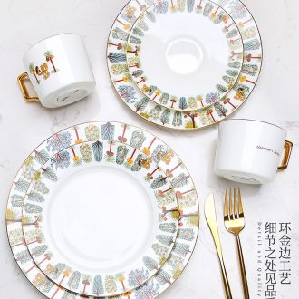 The British museum cooperation European ceramic one person eat western-style food tableware suit creative phnom penh household steak dishes