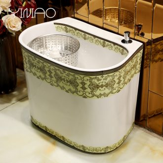 Million bird bath Nordic home bathroom floor balcony ceramic wash mop pool mop pool mop pool