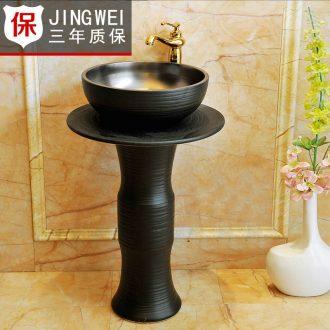 JingWei jingdezhen ceramic column basin balcony ceramic art basin suit its vertical lavabo that defend bath