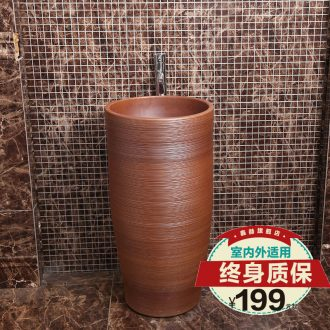 Xin Hector ShangZhu integrated basin ceramic column lavatory toilet lavabo toilet balcony art creative personality