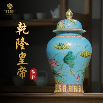 Better sealed kiln jingdezhen ceramics hand-painted large Chinese general furnishing articles can of archaize rich ancient frame porcelain decoration