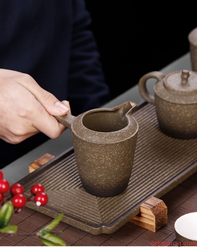 Tea seed Japanese coarse pottery side to tea ware porcelain stone fair mug cup points home well cup and a cup of tea