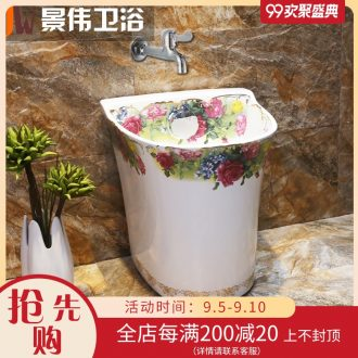 Small balcony mop pool toilet basin large floor mop pool mini mop household ceramic mop pool