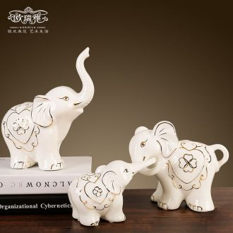 Wedding gift TV ark elephant furnishing articles european-style home decoration ceramic the sitting room porch decoration wedding gift