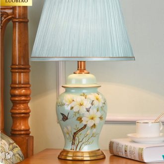 Robbie Australia Europe type desk lamp bedroom nightstand lamp creative American contracted sweet romance adjustable warm light ceramic lamp
