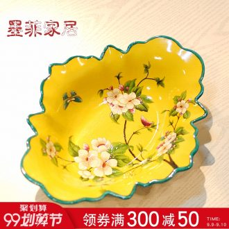 Murphy American country classic ceramic fruit bowl sitting room tea table of new Chinese style restaurant dried fruit candy snacks