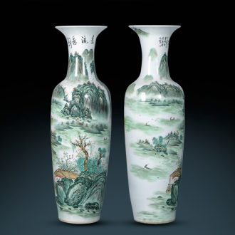 Jingdezhen porcelain has a long history in the hand of large vases, Chinese style living room beside the hotel decoration TV ark furnishing articles
