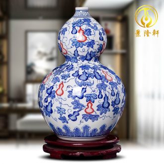 Jingdezhen ceramics hand-painted antique Chinese blue and white porcelain vase furnishing articles contracted household act the role ofing is tasted the sitting room of handicraft