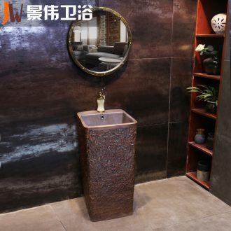 JingWei basin one floor outdoor meteorites vertical ceramic column pillar courtyard the sink basin