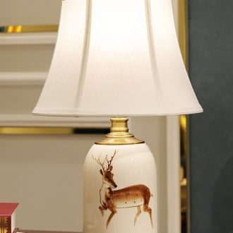 American desk lamp ceramic decoration art designers all copper contemporary and contracted sitting room bedroom a sitting room lamps and lanterns of the head of a bed