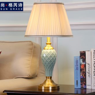 European contracted sitting room adornment lamps and lanterns study lamp fashion designer individuality creative ceramic desk lamp of bedroom the head of a bed