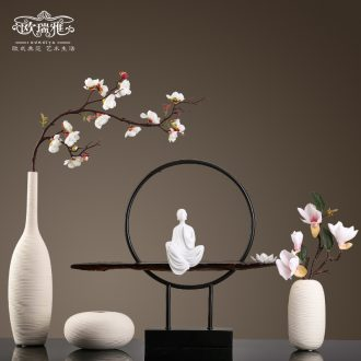 New Chinese vase creative ceramic sitting room type dry flower vase is contracted and contemporary adornment light luxury zen furnishing articles