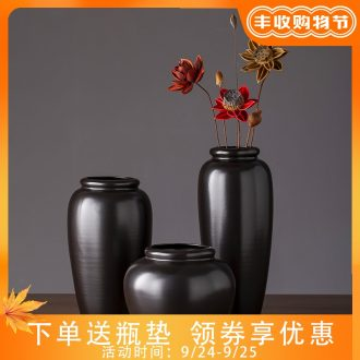 2019 new black ceramic vase zen contracted creative furnishing articles of contemporary sitting room hotel vase do the vase