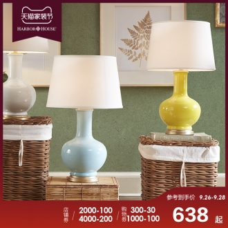 Harbor House lamp lamps and lanterns of the sitting room is contracted and contemporary American ceramic lamp Casila of bedroom the head of a bed