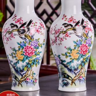 Jingdezhen ceramics modern large vases, flower arranging dried flowers home sitting room porch Chinese craft ornaments furnishing articles
